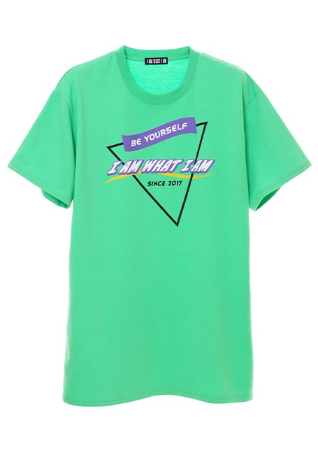 Triangle Logo T-shirt - NEON GREEN