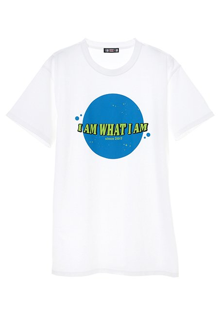 Planet Logo T-shirt - WH_BLUE