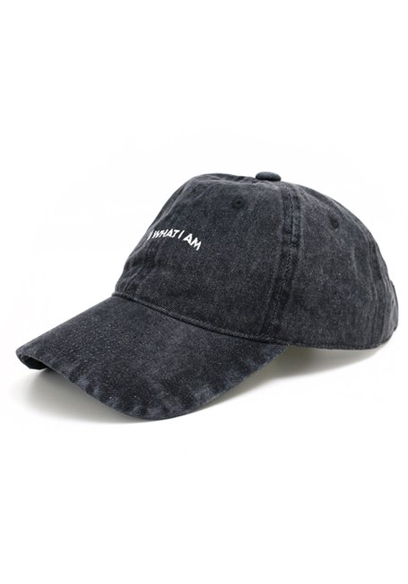 Warp Logo Wash Denim Cap - BLACK