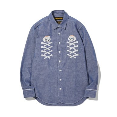 CHAMBRAY / C-SHIRT.LS
