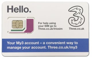 Three UK SIMカード<br>【イギリス】 GW早期購入キャンペーン~4/25まで特別価格!