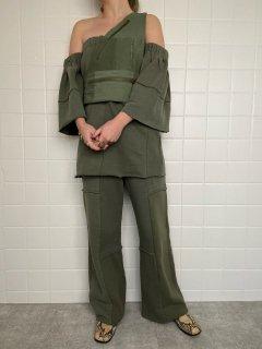 patchwork sweat pants