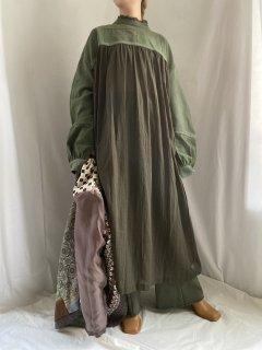 military cotton gauze dress