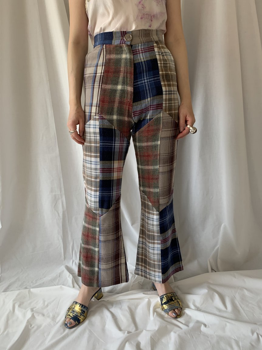 nell check pants-B(25)