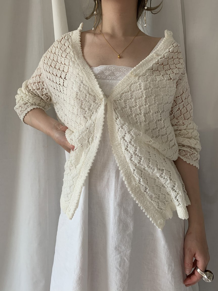 lace knit cardigan(vintage&used)