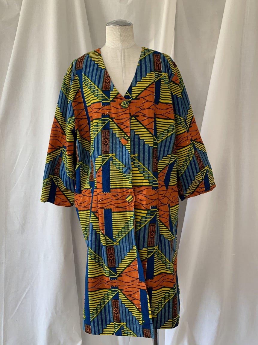 african batik dress-2(vintage&used)