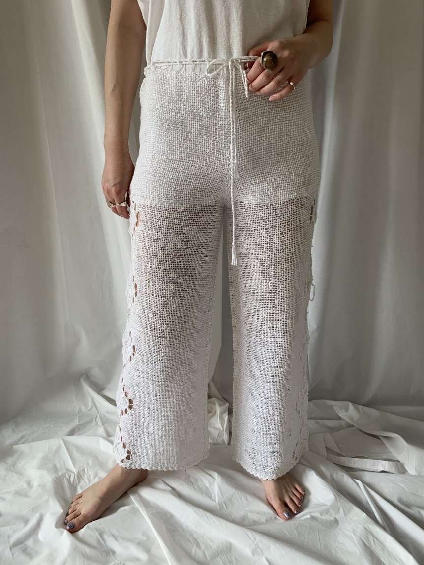 crochet lace pants(vintage&used)