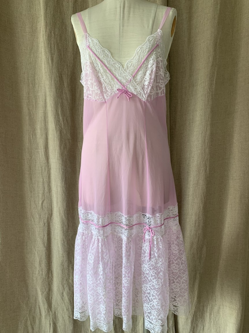 lace slip dress(vintage&used)