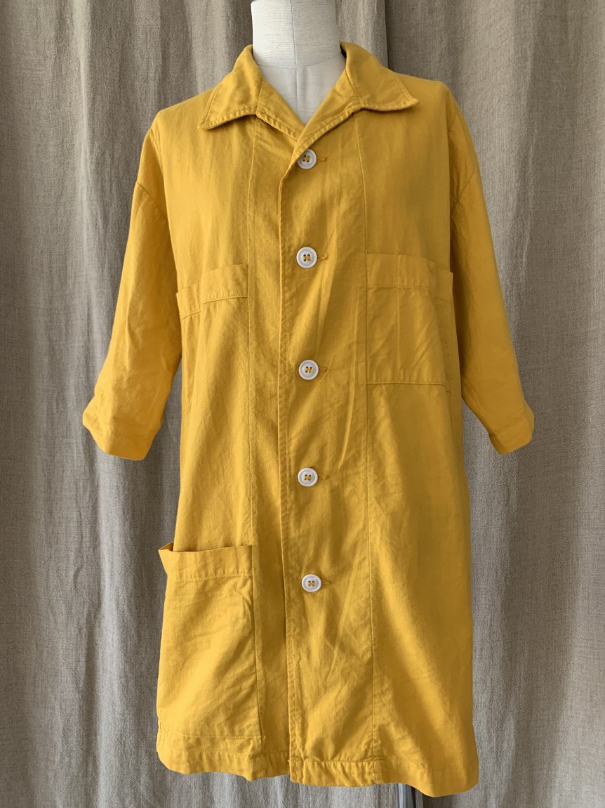 cotton yellow shirt(vintage&used42)