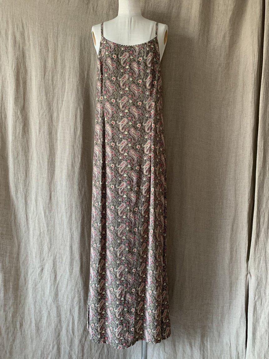 paisley cami dress(vintage&used)