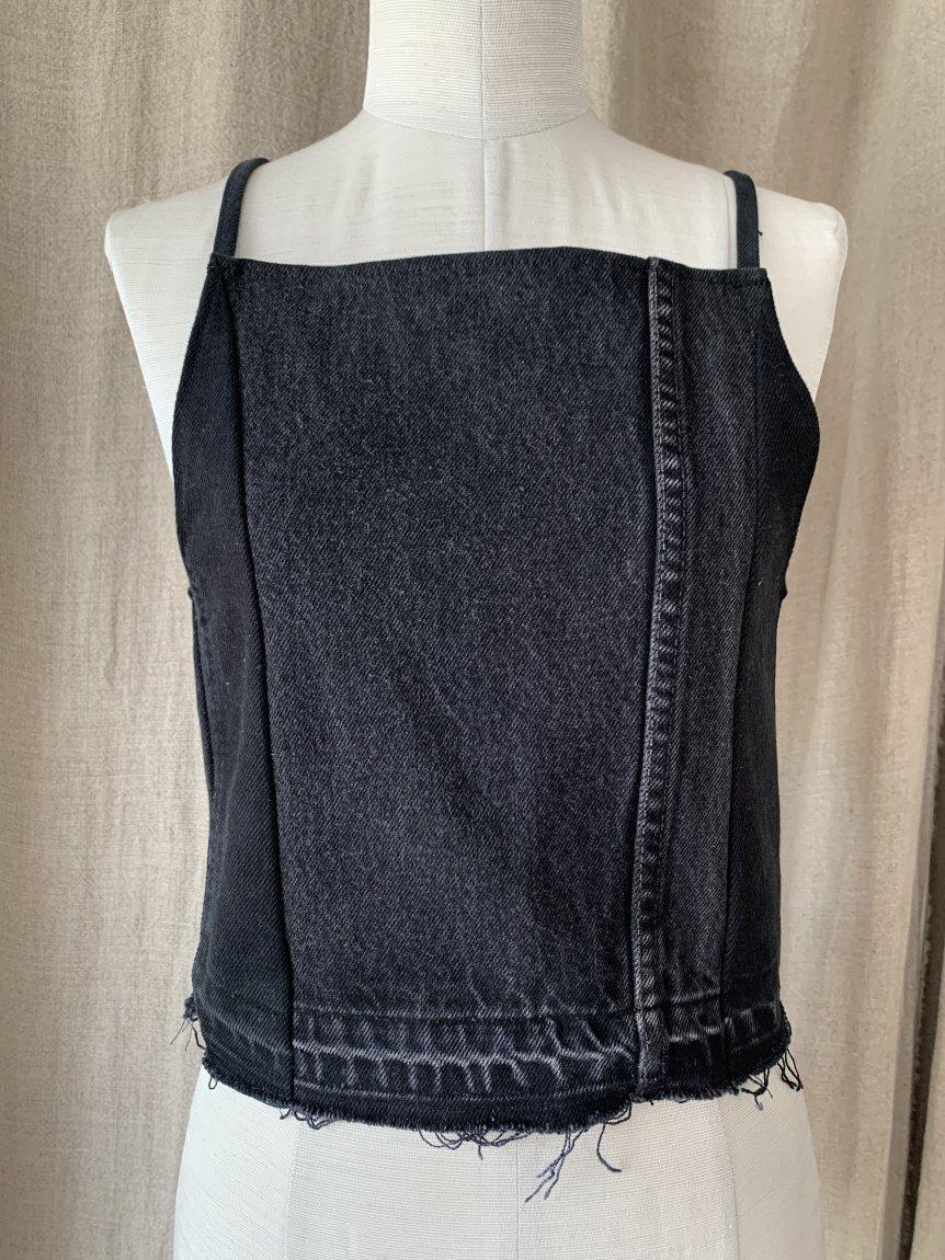 black denim camisole-B