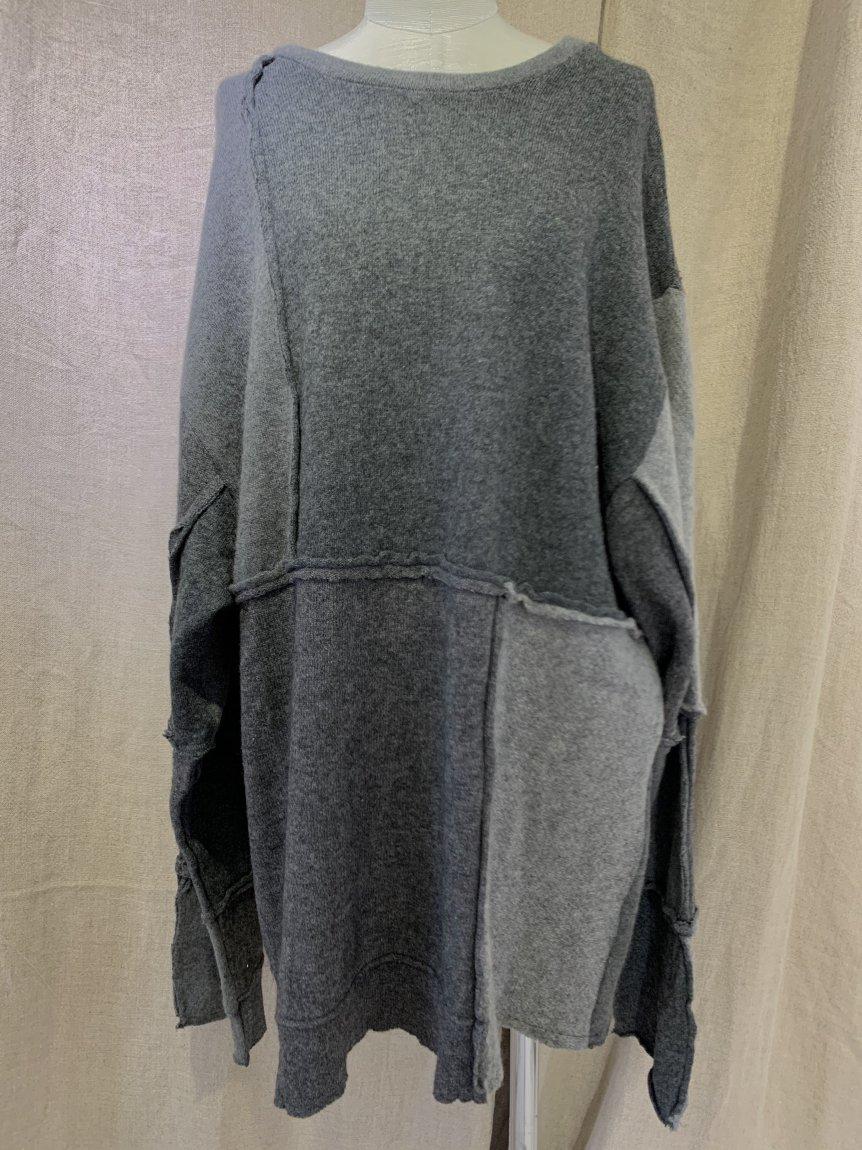 cashmere big long sleeve knit-B