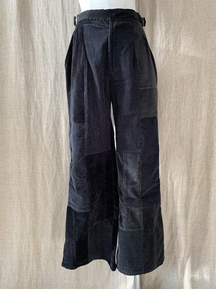 west belt corduroy pants-C