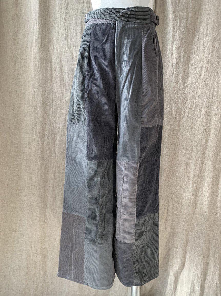 west belt corduroy pants-B