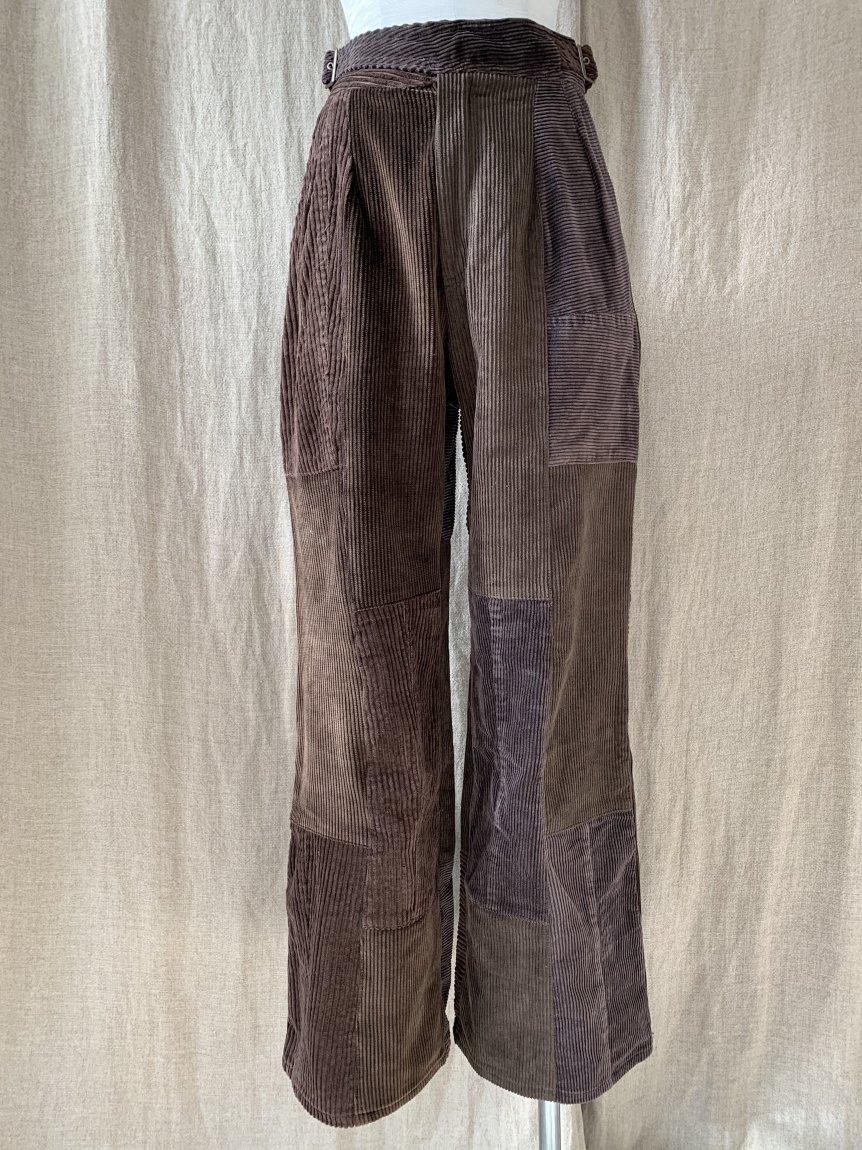 west belt corduroy pants-A