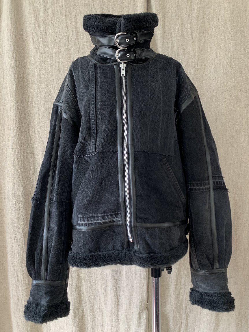 patchwork fight jacket