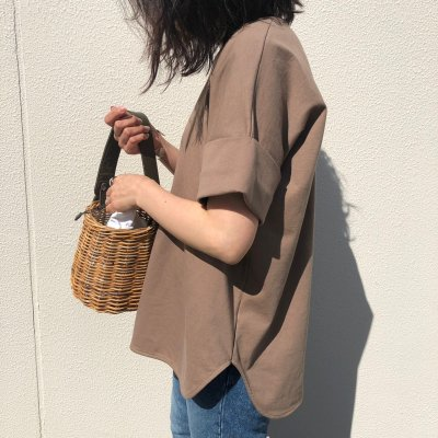 Original A-line cotton T/ Brown beige