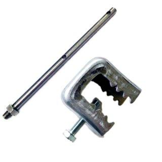 ハトワイヤー コンパクトクランプセット(1セット)※挟み幅16mm