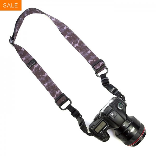 HEAVY CAMERA SLING STRAP - BLACK CAMO