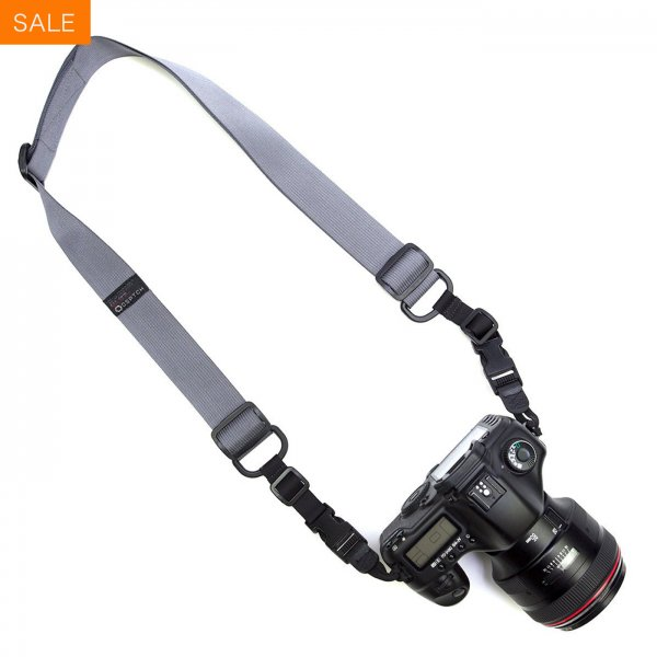 HEAVY CAMERA SLING STRAP - GREY