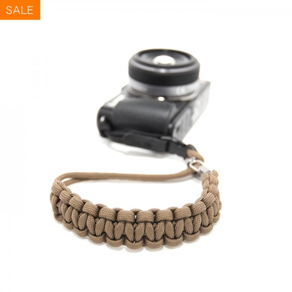 CAMERA WRIST STRAP - COYOTE/STAINLESS STEEL