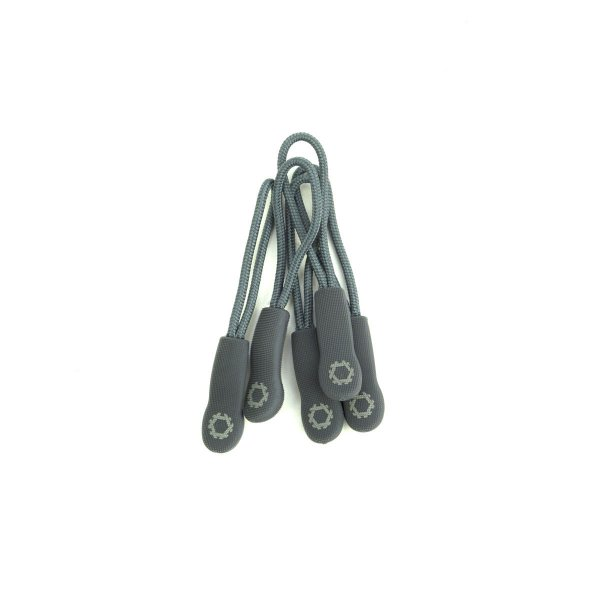 ZIPPER PULLS GREY