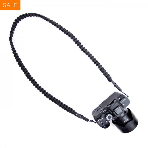 BRAIDED CAMERA SLING STRAP 44 - BLACK