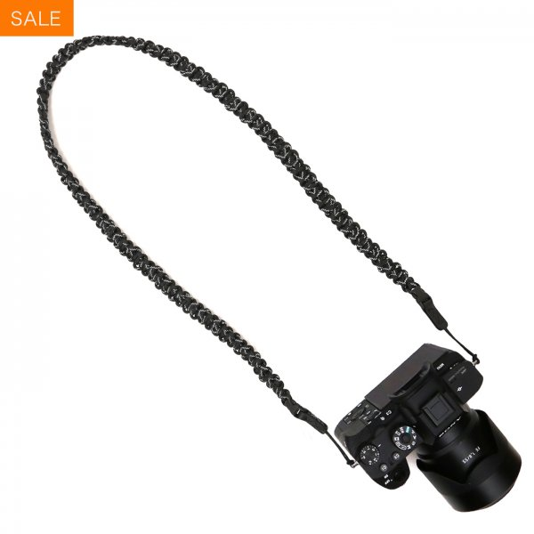 BRAIDED CAMERA SLING STRAP 44 - BLACK 3M