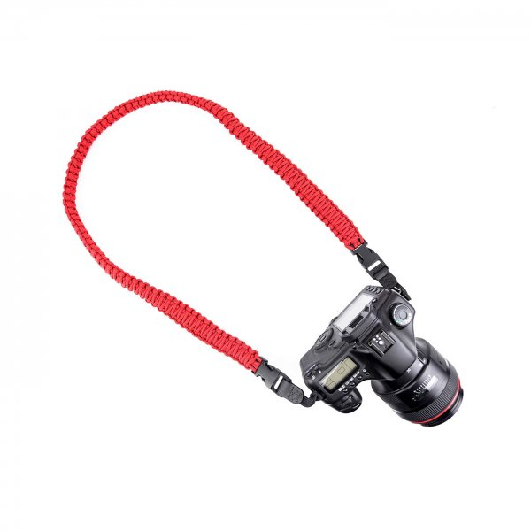 HEAVY BRAIDED CAMERA SLING STRAP 44 - RED