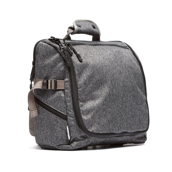 TECH MESSENGER - GREY SPECKLED TWILL