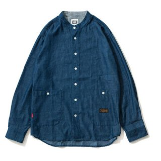 DENIM BAND COLLAR SHIRT / 2 Colors