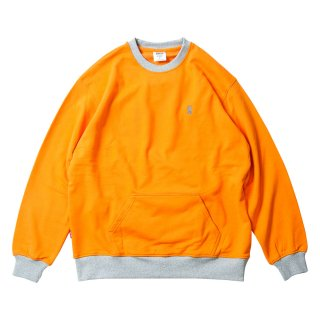 CONTRAST CREW SWEAT