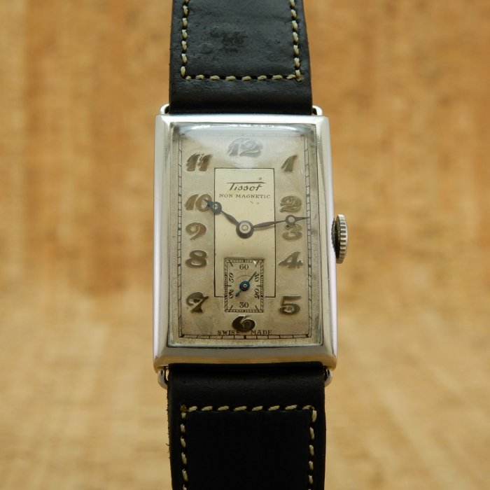 Tissot NonMagnetic RectangleCase SS ManualWind Cal.20 BreguetIndex&BreguetDial&SmallSeconds&WireLug