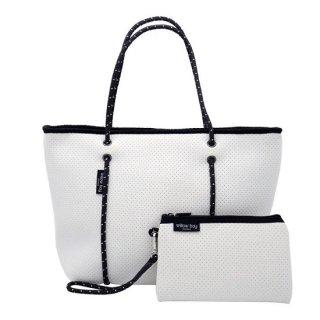 ネオプレントートバッグ ファスナー(ホワイト)フェア対象