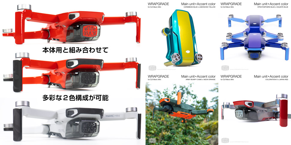 Wrapgrade for DJI Mavic Mini Accent Color