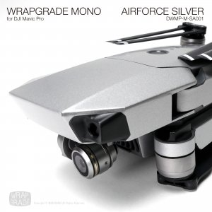 AIRFORCE SILVER / エアーフォースシルバー (サテン・半ツヤ) WRAPGRADE MONO for DJI Mavic Pro