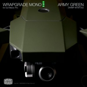 ARMY GREEN / アーミーグリーン (マット・ツヤ消し) WRAPGRADE MONO for DJI Mavic Pro