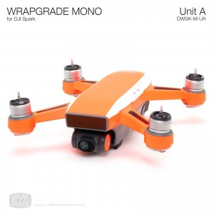 WRAPGRADE MONO for DJI Spark スキン シール ユニットA トップストライプ アーム 全20色