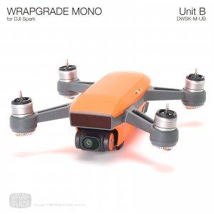 WRAPGRADE MONO for DJI Spark スキン シール ユニットB 本体 バッテリー 全20色