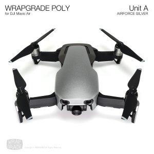 WRAPGRADE POLY for DJI Mavic Air スキン シール ユニットA エアーフォースシルバー