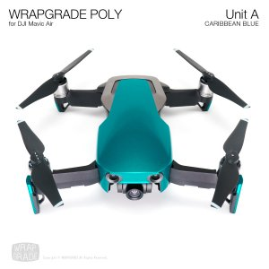 WRAPGRADE POLY for DJI Mavic Air スキン シール ユニットA カリビアンブルー