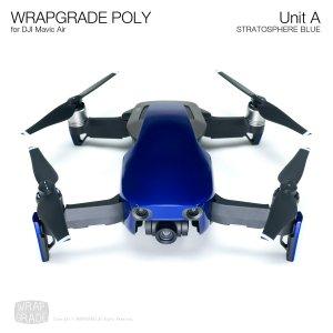WRAPGRADE POLY for DJI Mavic Air スキン シール ユニットA ストラトスフェアブルー