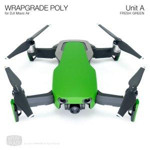 WRAPGRADE POLY for DJI Mavic Air スキン シール ユニットA フレッシュグリーン