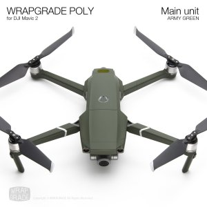WRAPGRADE POLY for DJI Mavic 2 アーミーグリーン