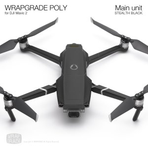 WRAPGRADE POLY for DJI Mavic 2 ステルスブラック
