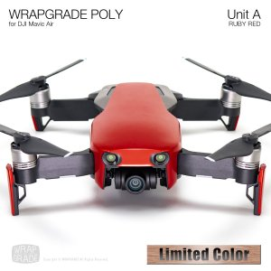 <img class='new_mark_img1' src='https://img.shop-pro.jp/img/new/icons12.gif' style='border:none;display:inline;margin:0px;padding:0px;width:auto;' />WRAPGRADE POLY for DJI Mavic Air スキン シール ユニットA ルビーレッド 【Limited】