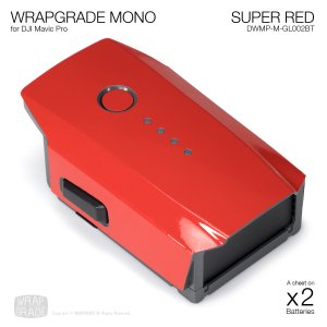 WRAPGRADE POLY for DJI Mavic Pro バッテリー用 2枚セット 全17色