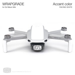 <img class='new_mark_img1' src='https://img.shop-pro.jp/img/new/icons12.gif' style='border:none;display:inline;margin:0px;padding:0px;width:auto;' />WRAPGRADE POLY for Mavic Mini 用 アクセントカラー レーシングホワイト