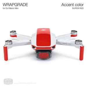 <img class='new_mark_img1' src='https://img.shop-pro.jp/img/new/icons12.gif' style='border:none;display:inline;margin:0px;padding:0px;width:auto;' />WRAPGRADE POLY for Mavic Mini 用 アクセントカラー スーパーレッド