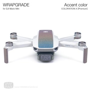 <img class='new_mark_img1' src='https://img.shop-pro.jp/img/new/icons12.gif' style='border:none;display:inline;margin:0px;padding:0px;width:auto;' />WRAPGRADE POLY for Mavic Mini 用 アクセントカラー カラーレーション‐X【Premium】